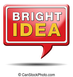 bright ideas brilliant great idea new innovation or...