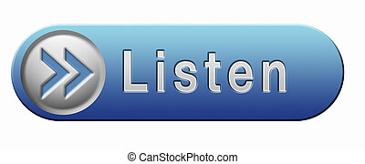 listen icon - Listen live stream music audio or radio button