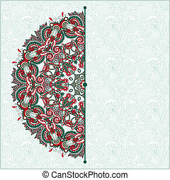 ornate floral card with ornamental circle template
