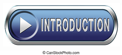introduction button - Introduction or about us icon or...