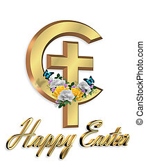 Easter Graphic Christian cross - Image and illustration...