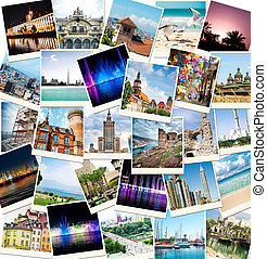photos from travels to different countries - collage of...