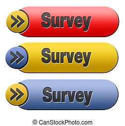 survey button - Survey button or feedback sign online...