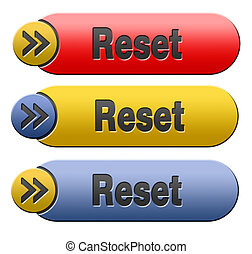 reset button - Reset button start again or refresh icon...