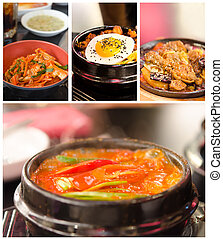 korean cuisine - Collage from photographs of korean cuisine...