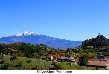 View on Etna - Photo of view volcano Etna