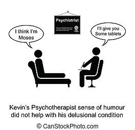 Psychotherapy Humour - Kevin hated his Psychotherapist sense...