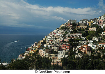 Positano - Town of Positano along the Amalfi Coast in Italy