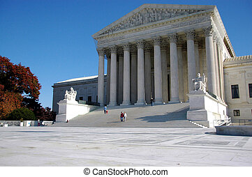 US Supreme Court Building - Facade of supreme court building...