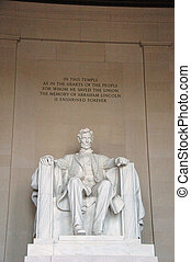 Lincoln Memorial - Marble Statue of Abraham Lincoln inside...