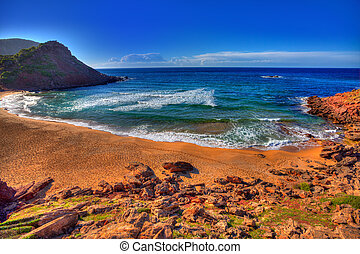 Cala Pilar beach in Menorca at Balearic Islands - Cala Pilar...