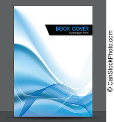 Blue wave vector brochure booklet cover design template