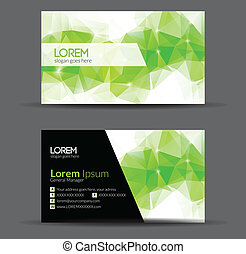 Green Modern Abstract Business - Card Set | EPS10 Vector...