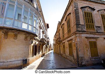 Ciutadella Menorca Placa de Alfons III in Ciudadela downtown...
