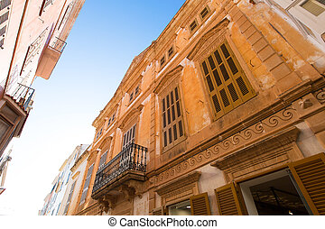 Ciutadella Menorca downtown city of Ciudadela