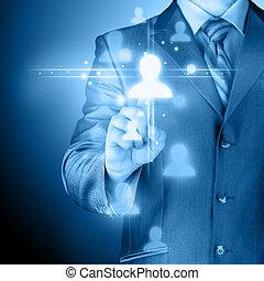 media,  hand, tränga,  social,  man, ikon