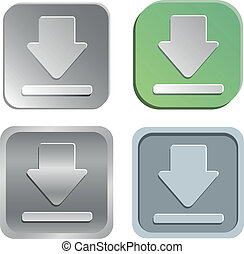 download buttons - Vector download buttons - four styles