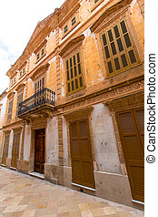 Ciutadella Menorca historic downtown in Ciudadela
