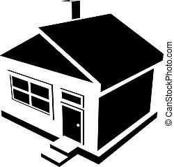 house silhouette - Vector silhouette of a house