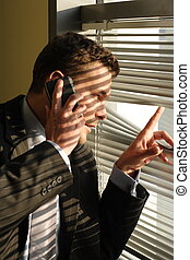 Handsome calling on phone secret man - investigator