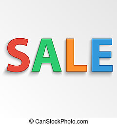 Vector sale poster composed from colorful letters