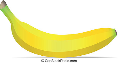 Vector banana isolated on white background