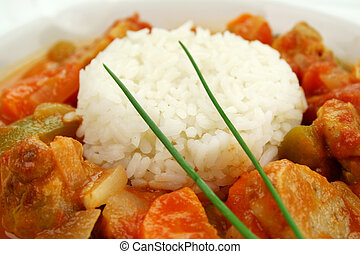 Chicken Gumbo - Delicious chicken gumbo with rice, sausage,...