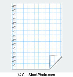Vector isolated blank sheet of paper