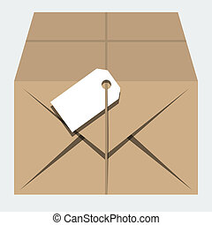 Vector isolated parcel in flat style