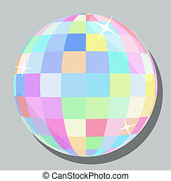 Vector isolated color disco ball