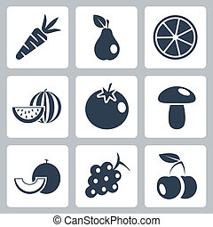 Vector health food icons set