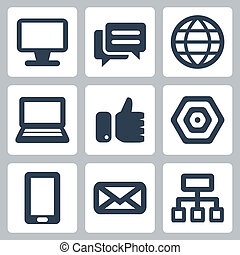 Vector isolated webinternet icons set