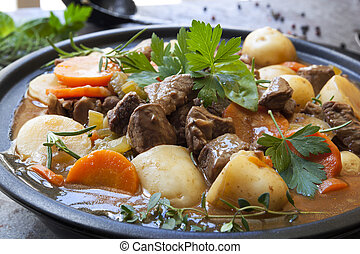 Irish Stew - Irish stew, made with lamb, stout, potatoes,...