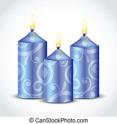 decorative candles - Vector illustration of decorative...