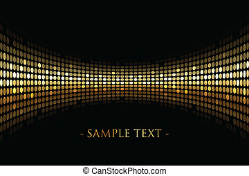 black background with gold lights - Vector black background...