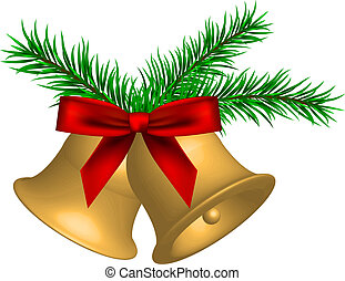 christmas bells - Vector illustration of christmas bells