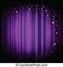 purple stage background with lights