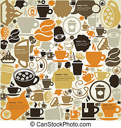 Coffee a structure - Background on a coffee theme A vector...