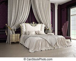 bedroom - classic bedroom, 3D RENDERING