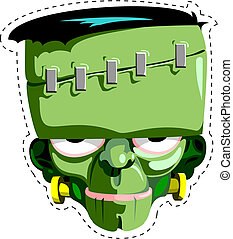 Frankenstein Hallowen mask - Your handy cut-out and keep...