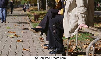 Senior friends sitting together - Senior women friends...