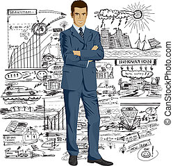 Vector Businessman In Suit - Vector business man in suit...