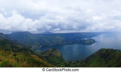 Lake toba or danau toba in North Sumatra, Indonesia