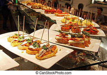 Tapas - Some tapas in a bar in Espana