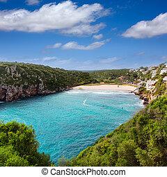 Cala en Porter beautiful beach in menorca at Balearics -...