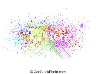Vector paint spray - Vector colorful paint spray abstract...