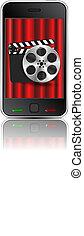 Vector movie phone