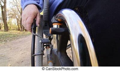 senior person in wheelchair