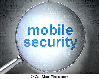 Privacy concept: Mobile Security with optical glass