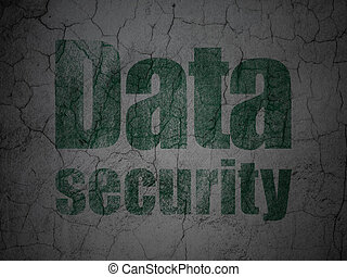 Safety concept: Data Security on grunge wall background